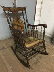 Antique Barley Twist Rocking Chair