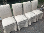 Set of 4 White Parson Chairs