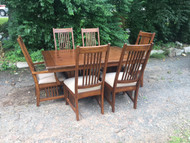 5.5Ft Arts and Crafts Dining Table and 6 Chairs
