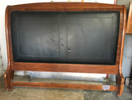King Size Mahogany Black Leather Sleigh Headboard