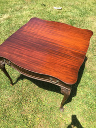 Mahogany Flip Top Table