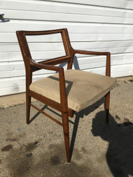Mid Century Modern Arm Chair w/ Tan Cushion