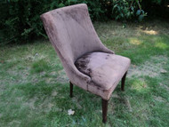 Brown Contemporary Upholstered Chair