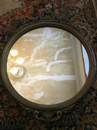 "Antique 17"" Round Mirror"