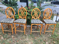 Set of 4 Round Back Bar Height Chairs