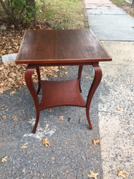 Antique Square Mahogany Inlaid Table