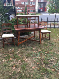 Solid Rock Maple Dining Table w/ 4 Chairs