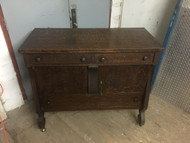 Antique Tiger Oak Dining Room Buffet