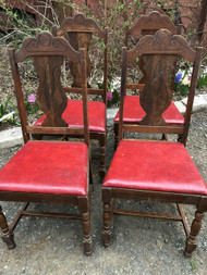 Set of 4 Depression Dining Chairs