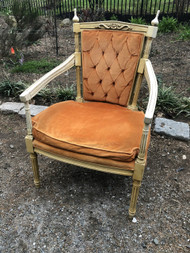 Orange Tufted Accent Chair