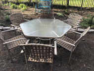 Hexagon Patio Table w/ 6 Chairs