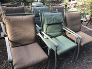 Set of 6 Coleman Aluminum Patio Chairs