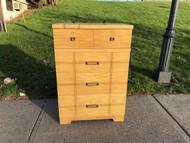 Vintage Modern 4 Drawer Golden Dresser
