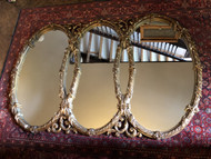 "Vintage 5.5ft Triple Oval Mirror 66"" x 43"""