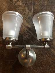 Brushed Nickel 2 Light Wall Sconce