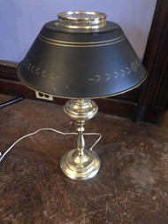 Brass and Black Table Lamp