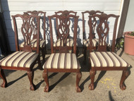 Set of 6 Ball and Claw Dining Chairs