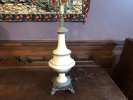 Antique Porcelain and Brass Table Lamp