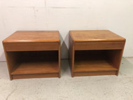 Pair of Danish Modern Teak Nightstands