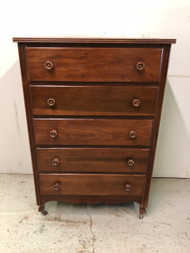 Antique Pine 5 Drawer Dresser