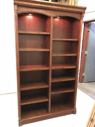 Cherry Double Bookcase