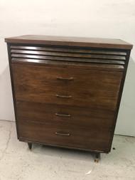MCM Walnut 4 Drawer Dresser