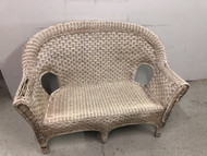 Natural Wicker Loveseat