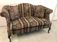 5ft Queen Anne Camelback Settee