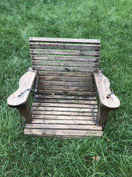 2ft wooden porch swing chair