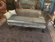 Antique Duncan Phyfe Silver Velvet Sofa - Newly Reupholstered