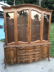 Cherry French Provincial China Cabinet