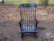 Black Windsor Rocking Chair