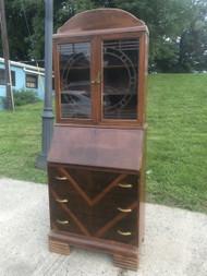 Antique Art Deco Secretary Desk Cabinet