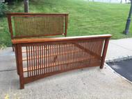 King Size Oak Mission Style Bed Frame