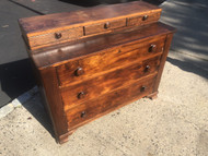 Antique Mahogany Tiered 6 Drawer Dresser