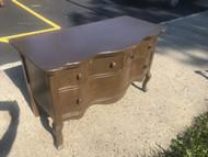 Antique Oak 3 Drawer Low Serpentine Server  / Dresser / Media Stand