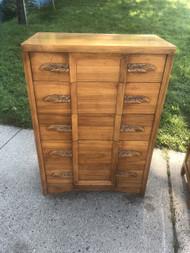 Vintage Solid Wood Tall 5 Drawer Dresser