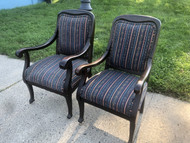 Antique Ladies and Gentleman's Pair of Mahogany Chairs