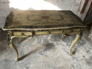 Vintage Distressed Handpainted Writing Desk