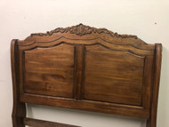 Carved Solid Oak Queen Headboard