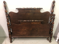 Antique 4 Post Full Size Walnut Headboard and Footboard