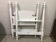 White Painted 4 Post Twin Bed