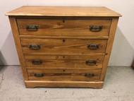 Vintage 4 Drawer Pine Dresser