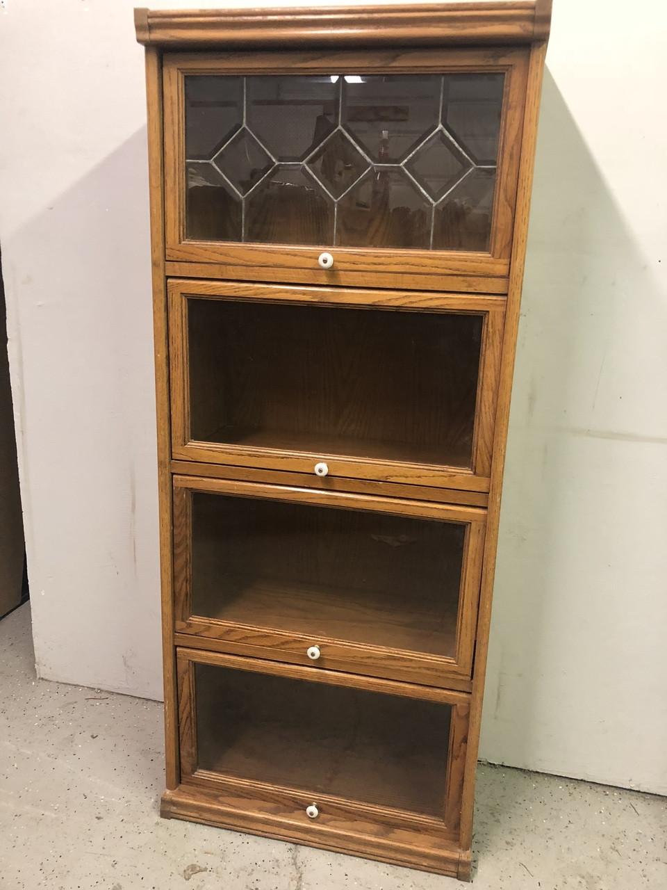Oak 4 Door Barrister Bookcase