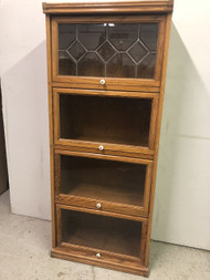 Oak 4 Door Barrister Bookcase