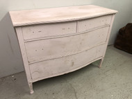 Curved Front Pink 4 Drawer Dresser