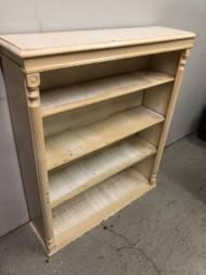 Cream handpainted bookcase
