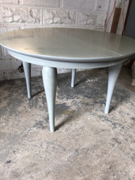 "Grey Handpainted 48"" Round Table"