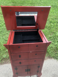 Red Jewelry Cabinet
