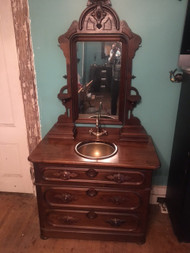 Antique Victorian Eastlake Bathroom Sink / Vanity